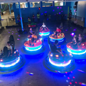 Spin Zone Bumper Cars at Rebounderz